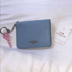 Coach Keychain Wallet In Baby Blue Color